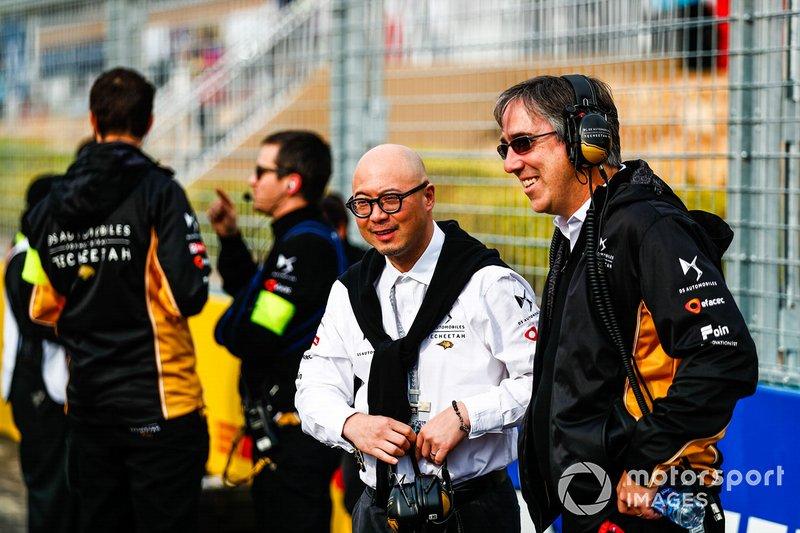 Mark Preston, Team Principal, DS TECHEETAH, Edmund Chu, DS TECHEETAH President on the grid