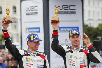 Podium: Jari-Matti Latvala, Miikka Anttila, Toyota Gazoo Racing WRT Toyota Yaris WRC McKlein