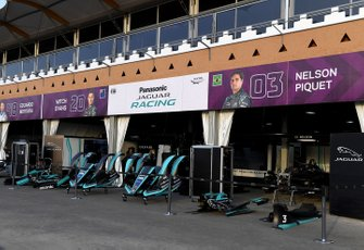 Jaguar Racing garages in the pit lane