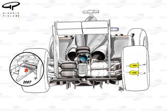 McLaren MP4-29 rear suspension