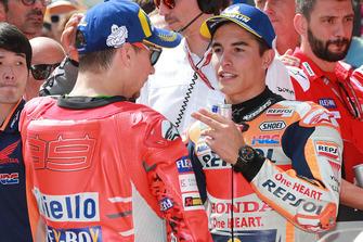 Polesitter Marc Marquez, Repsol Honda Team, 3. Jorge Lorenzo, Ducati Team