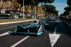 Nelson Piquet Jr., Jaguar Racing leadsSébastien Buemi, Renault e.Dams