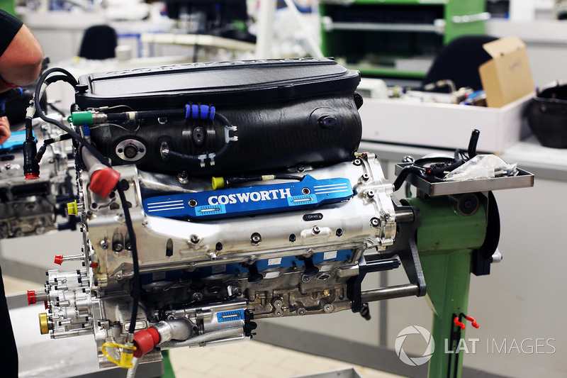 Un motor en la fábrica de Cosworth en Northampton