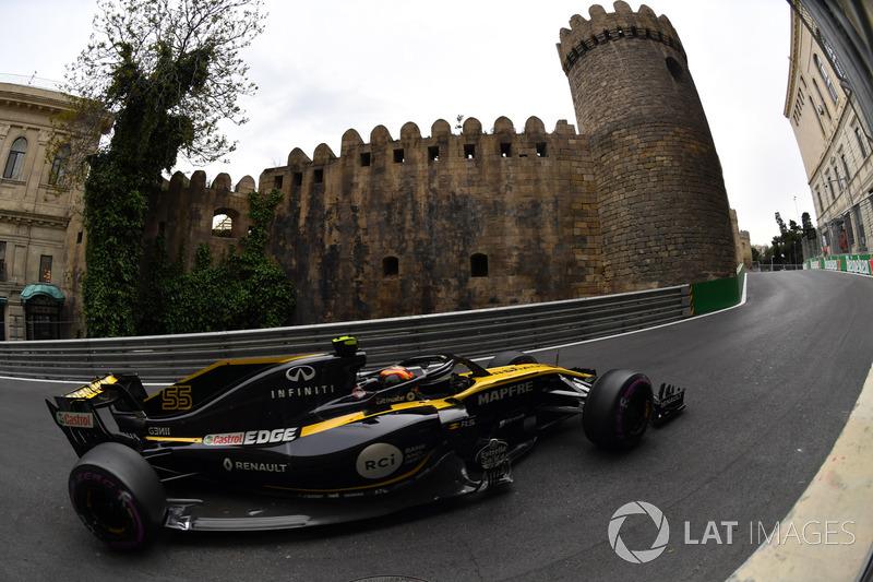 Sainz'ın Renault'daki en iyi sonucu