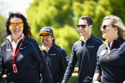 Fernando Alonso, McLaren, with Stoffel Vandoorne, McLaren