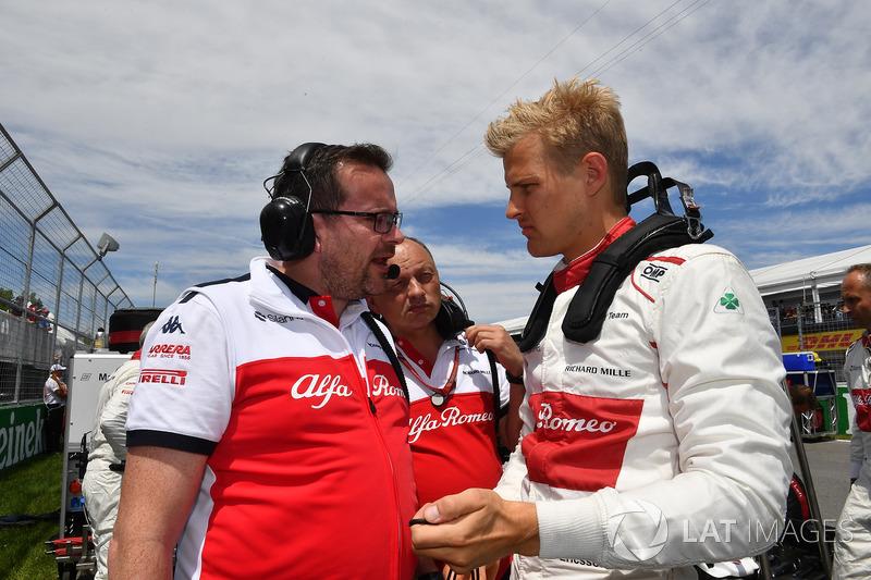 Marcus Ericsson, Sauber on the grid