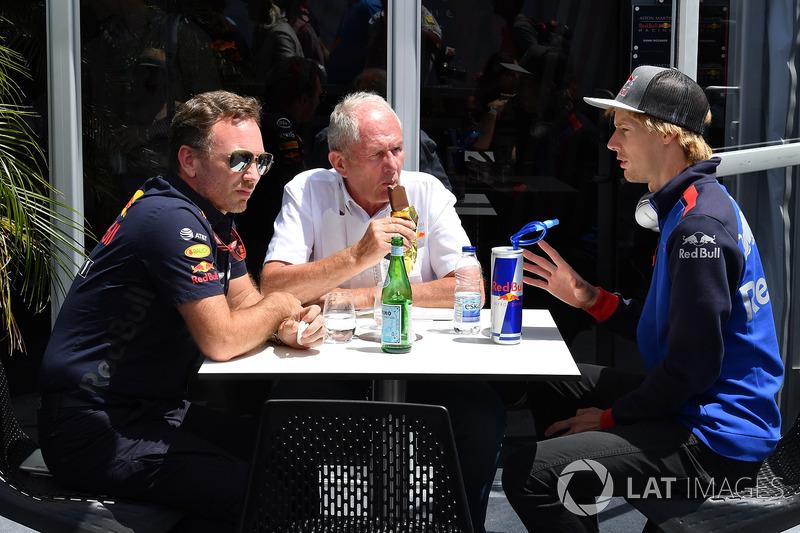 Dr Helmut Marko, Consulente Red Bull Motorsport e Brendon Hartley, Scuderia Toro Rosso