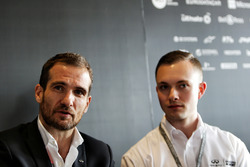 Tommaso Volpe, INFINITI Global Director of Motorsport, and Evan Sloan, INFINITI Academy Award USA Winner, at a media roundtable.