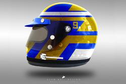 Marcus Ericsson 1970's helmet concept