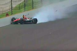Crash de Robert Wickens, Schmidt Peterson Motorsports Honda
