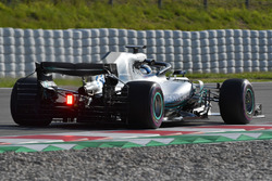 Valtteri Bottas, Mercedes-AMG F1 W09 with aero sensor on rear wing