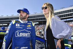 Jimmie Johnson, Hendrick Motorsports Chevrolet, mit Ehefrau Chandra