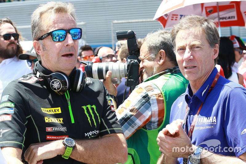 Hervé Poncharal, Monster Yamaha Tech 3, Teamchef; Lin Jarvis, Yamaha Factory Racing, Rennleiter