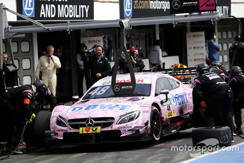 Pit stop, Edoardo Mortara, Mercedes-AMG Team HWA, Mercedes-AMG C63 DTM