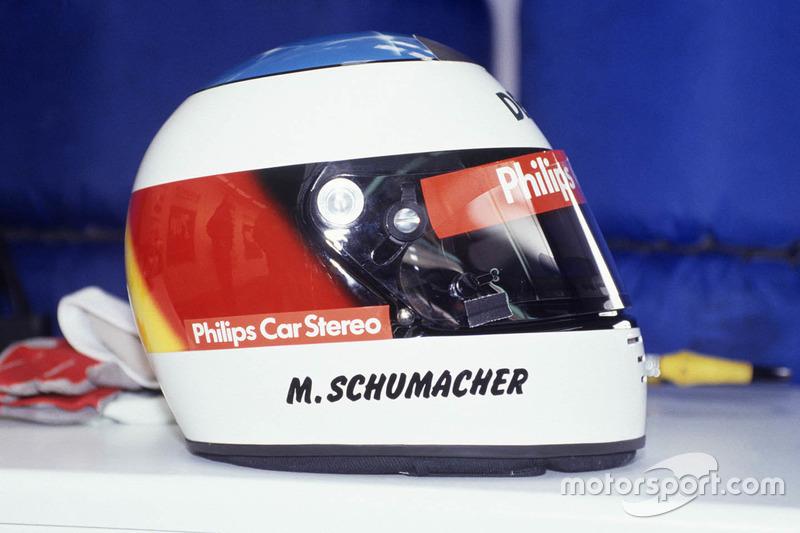 أول خوذة لمايكل شوماخر في الفورمولا واحد مع فريق جوردان موسم 1991