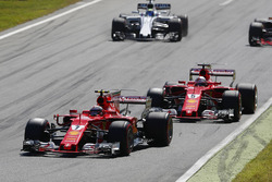 Kimi Raikkonen, Ferrari SF70H, Sebastian Vettel, Ferrari SF70H