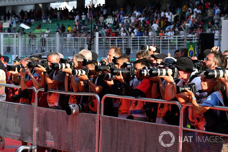 Des photographes