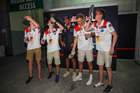 F1 in Schools winners perform a Shoey, Daniel Ricciardo, Red Bull Racing