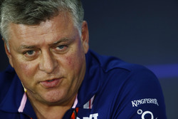 Otmar Szafnauer, Chief Operating Officer, Force India, in the  FIA press conference