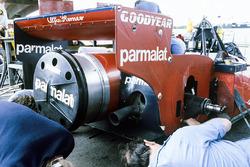 The rear end of Niki Lauda's Brabham BT46B Alfa Romeo fan car.