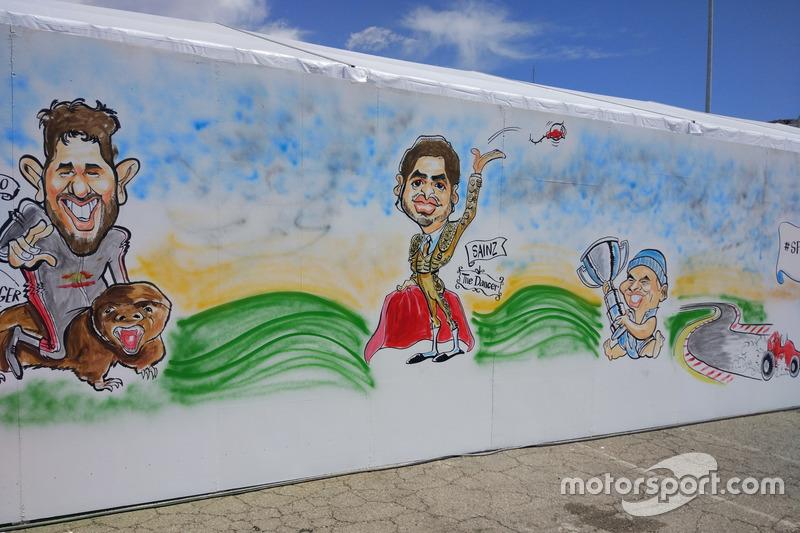 Gran Premio de España: una caricatura sobre el torero Carlos Sainz.