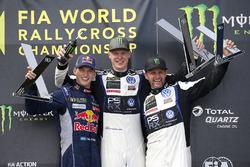 Podium: 1. Johan Kristoffersson, Volkswagen Team Sweden; 2. Timmy Hansen, Team Peugeot Hansen; 3. Petter Solberg, PSRX Volkswagen Sweden