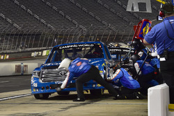Kyle Busch, Kyle Busch Motorsports Toyota, makes a pit stop