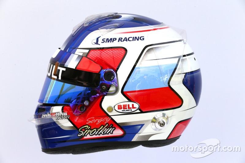 Casco de Sergey Sirotkin, Renault Sport F1
