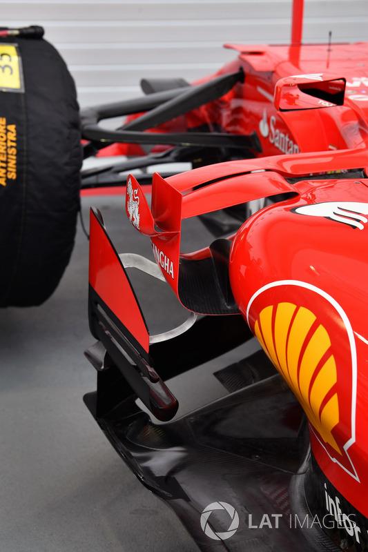 Ferrari SF70H, Seitenkasten, Aero-Detail