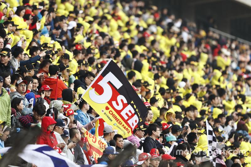 Fans of Sebastian Vettel, Ferrari