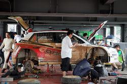 Car of Yuya Sumiyama, Takahiro Yasui, Skoda Fabia R5, Cusco Racing