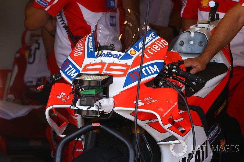 Jorge Lorenzo, Ducati Team aerodinamik grenaj