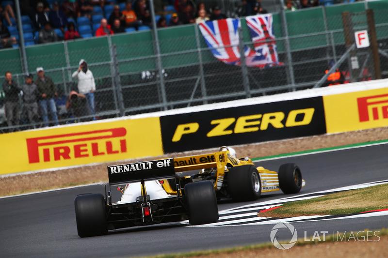 Renault Sport F1 Team F1, René Arnoux y Franck Montagny