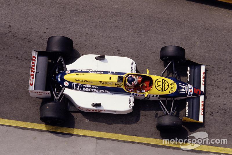#5: Nigel Mansell, Williams FW11B, Honda