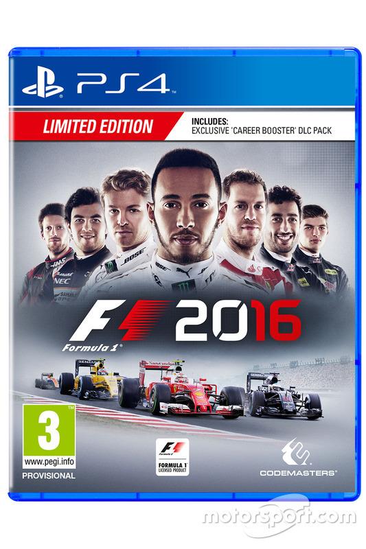 La boîte PS4 de F1 2016