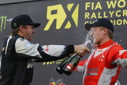 Podio: Petter Solberg, Petter Solberg World RX Team y Kevin Eriksson, Olsbergs MSE