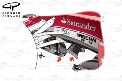 ferrari SF16-H turning vanes, Malaysian GP