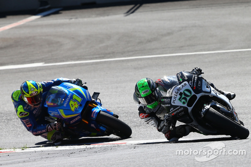 Eugene Laverty, Aspar Racing Team; Aleix Espargaro, Team Suzuki Ecstar MotoGP