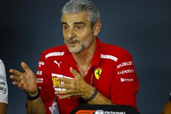 Maurizio Arrivabene, Team Principal, Ferrari, in the Team Principals' Press Conference