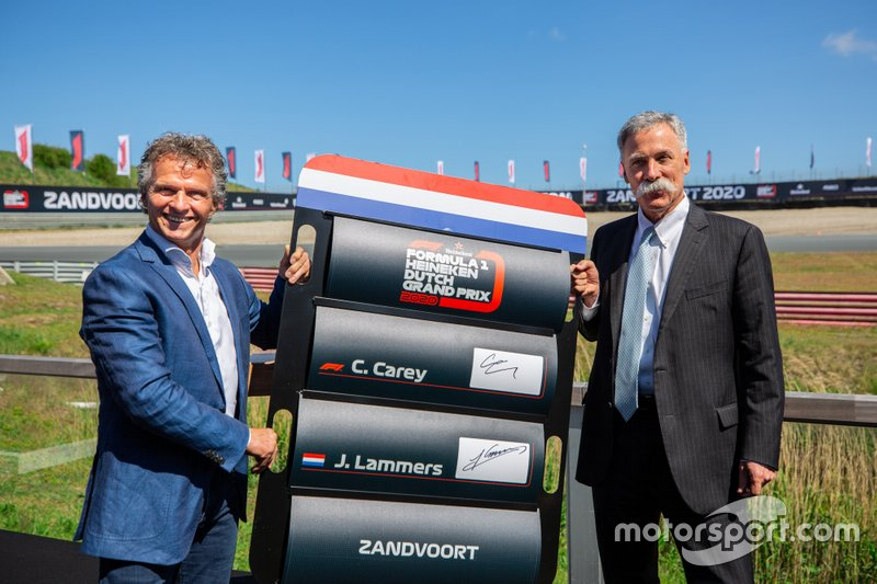 Jan Lammers mit Chase Carey, Formula One CEO