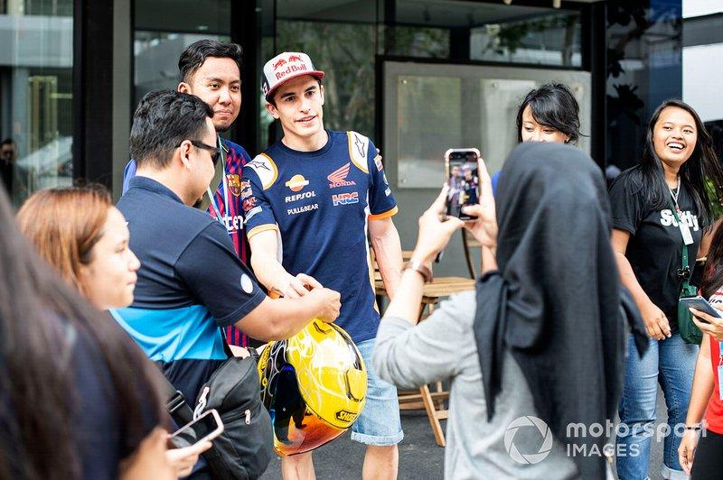 Marc Marquez, Repsol Honda Team con los fans