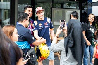 Marc Marquez, Repsol Honda Team met fans