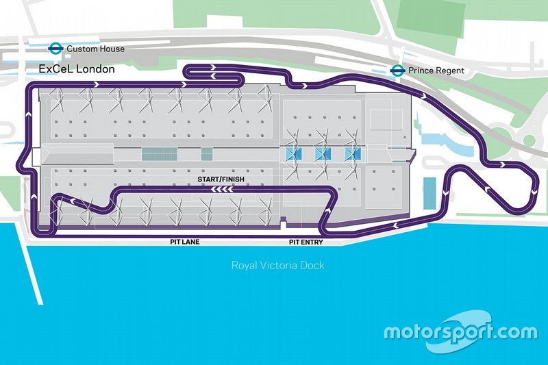 London E-Prix Track map