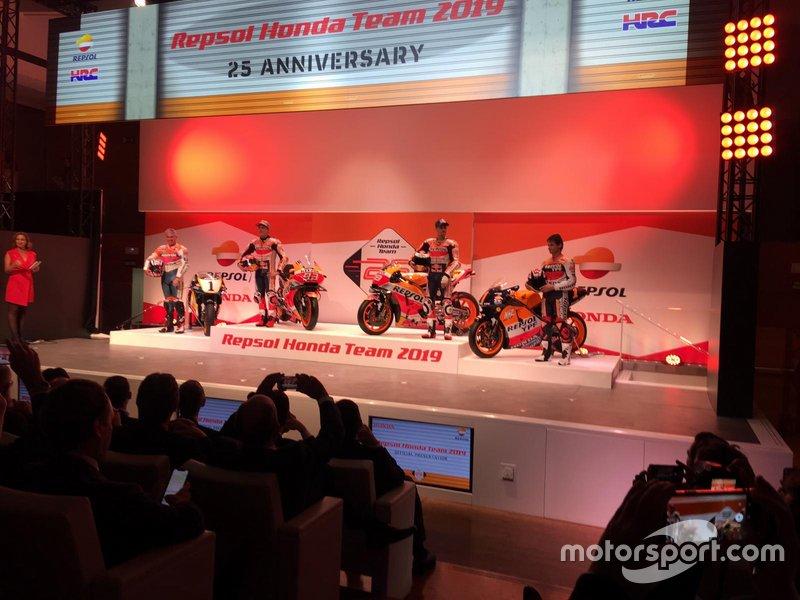 Мік Дуен, Марк Маркес, Хорхе Лоренсо, Алекс Крівілл, Honda HRC