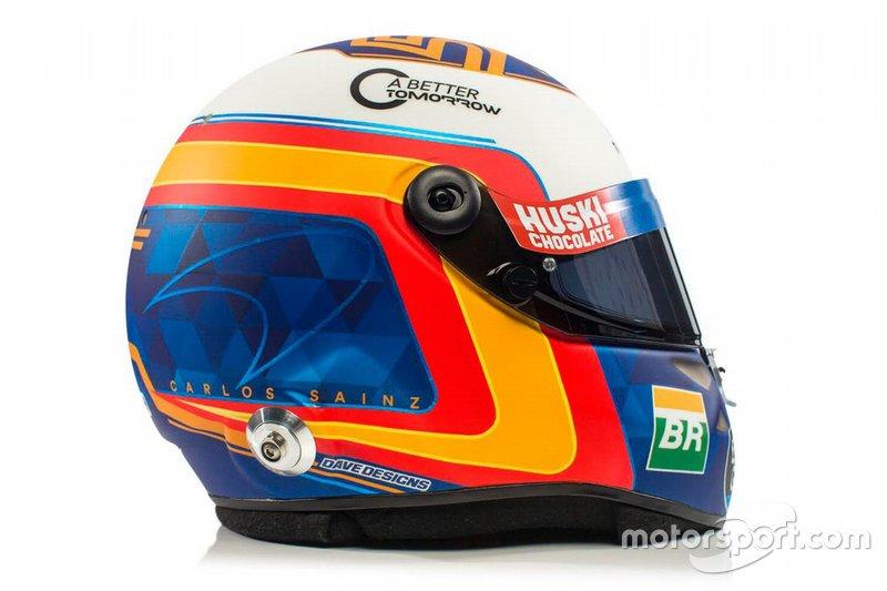 El casco de Carlos Sainz Jr., McLaren