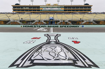 Apron signage on the speedway front stretch