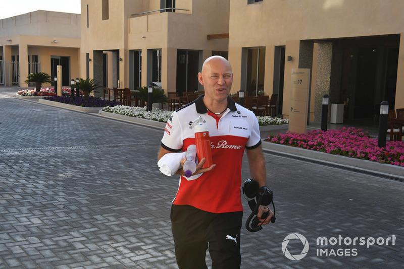 Mark Arnall, entraîneur de Kimi Raikkonen, Sauber