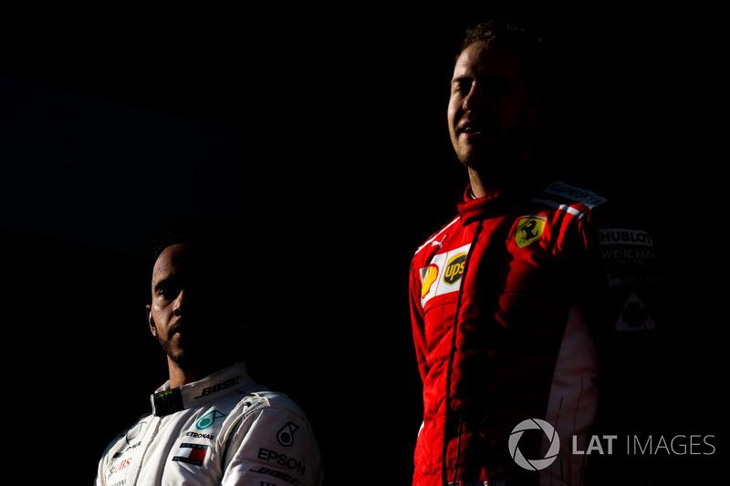 Lewis Hamilton, Mercedes-AMG F1, Sebastian Vettel, Ferrari
