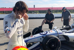Pietro Fittipaldi during his first test in an IndyCar after being injured