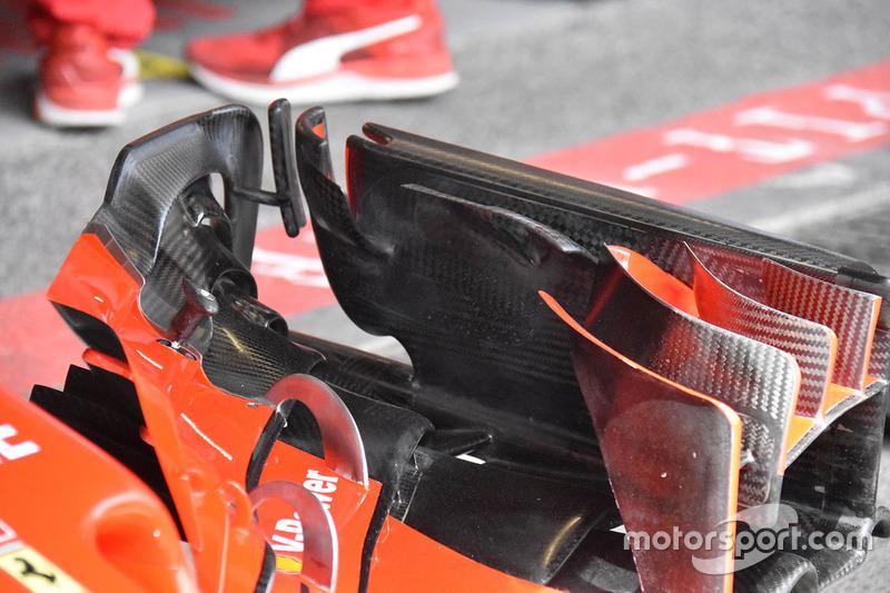 Kimi Raikkonen, Ferrari SF71H ön kanat detay